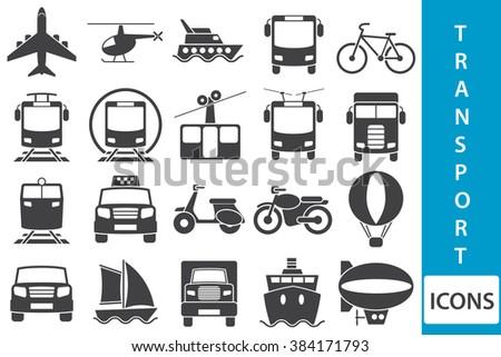 transport icons - stock photo