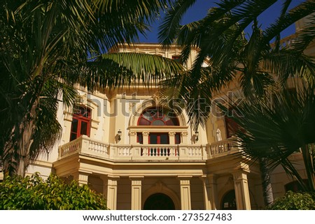 Tropical Palace                              - stock photo