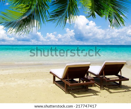 tropical sea - stock photo
