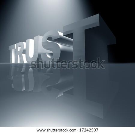 TRUST ,Digital art - stock photo