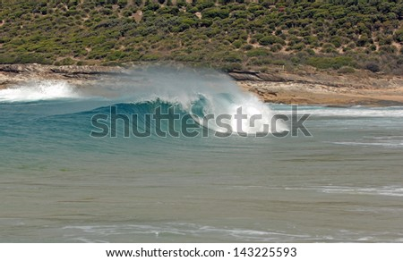 """Tube"" Forming in Surf, Sydney, Australia - stock photo"