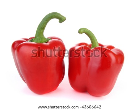 Two bell peppers - stock photo