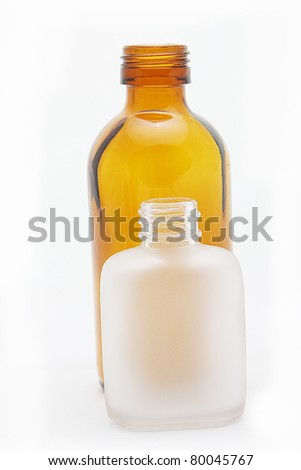 two Glass bottle - stock photo