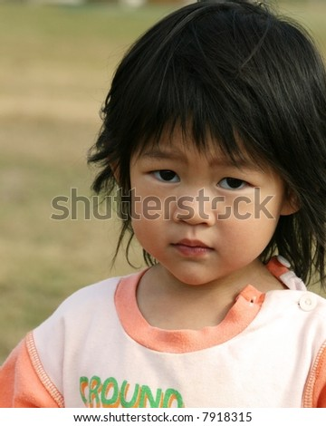 two-year-old girl - stock photo