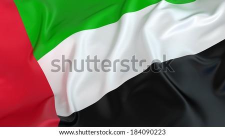 UAE flag - stock photo