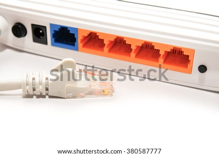 unplugged network cable  - stock photo