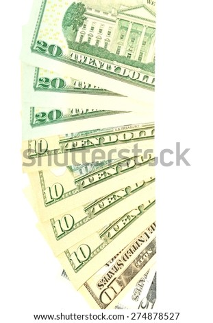 US dollars abstract background - stock photo