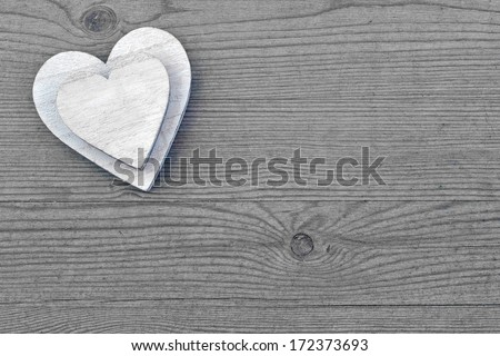 Valentines Day background. Heart for love, copy space. - stock photo