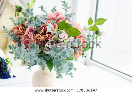 vase with Flowers - stock photo