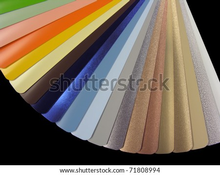Venetian blinds color chart - stock photo