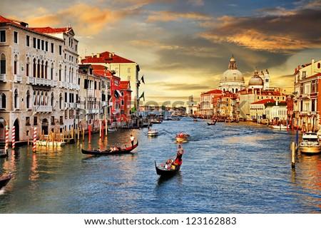 Venetian sunset - stock photo