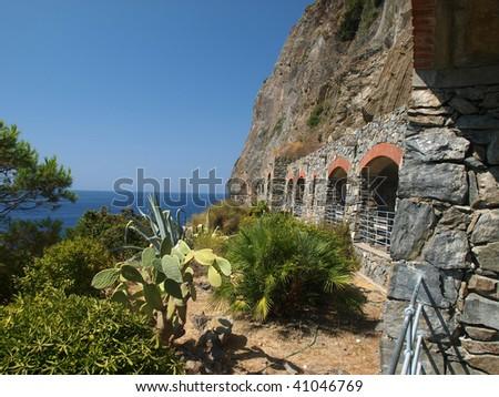 """""""Via dell amor"""" of Cinque Terre - Liguria Italy - stock photo"""