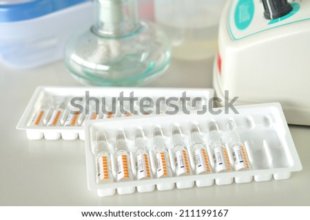 vial of medicine - stock photo