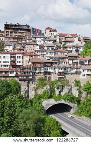 View from old town Veliko Tarnovo in Bulgaria - stock photo