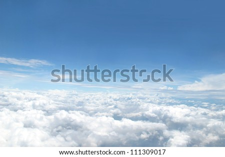 view of blue sky - stock photo
