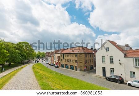 view of Bruges (Brugge), Belgium - stock photo
