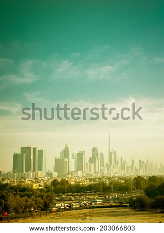 views of Dubai - stock photo