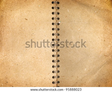 vintage notepaper - stock photo