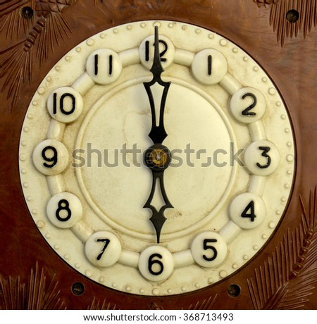 Vintage wall clock . Time concept  - stock photo