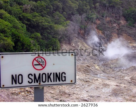 """Volcano"" at Soufriere, on St. Lucia - stock photo"