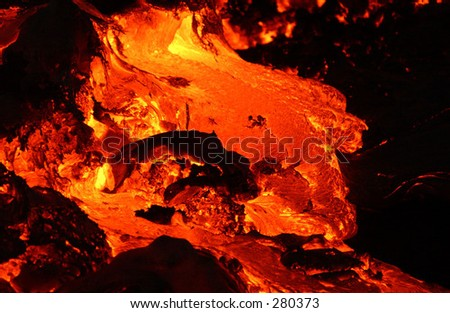"""Volcano lava, Volcano National Park, Hawaii, (Keith Levit)"" - stock photo"