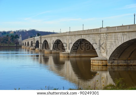 Washington DC, Arlington Memorial Bridge - United States - stock photo