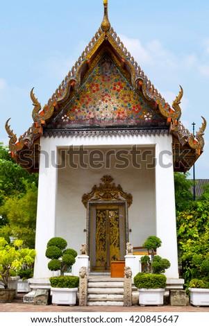 Wat Phra Chetuphon Vimolmangklararm Rajwaramahaviharn, Bangkok, Thailand - stock photo