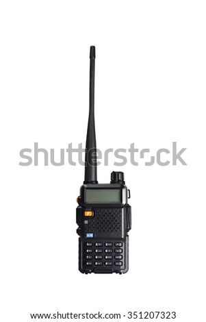 2-way portable radio isolated on white background with clipping path - stock photo