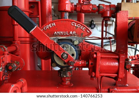 4-Way Valve for Annular BOP Closing System Unit (Koomey Unit) for BOP Control System in Oil Drilling Rig - stock photo