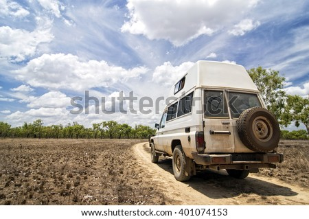 4WD off-Road in Northern Territory - stock photo
