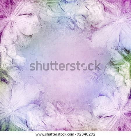 wedding background with flowers - stock photo