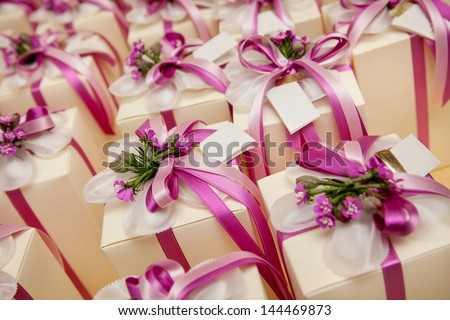 wedding gift for guest - stock photo