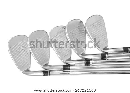 wedge, golf club - stock photo