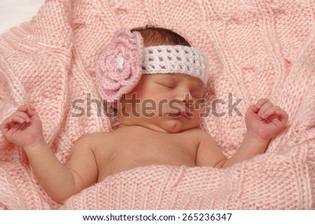 2 week old baby - stock photo