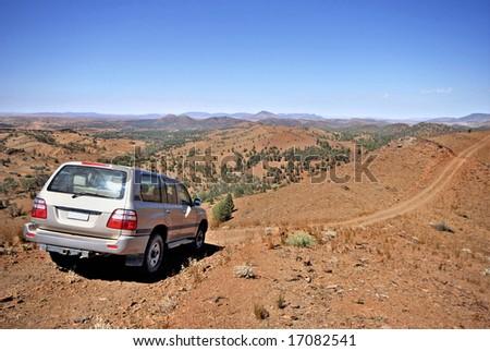 4 wheel drive in Flinders National Park in Australia - stock photo