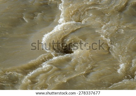 Whirlpool in river  - stock photo