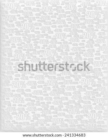 20% white background - stock photo
