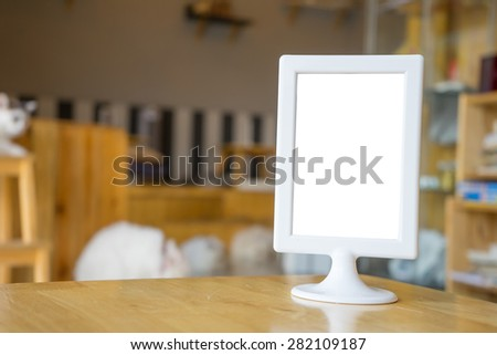 whiteboard restaurants advertising  - stock photo