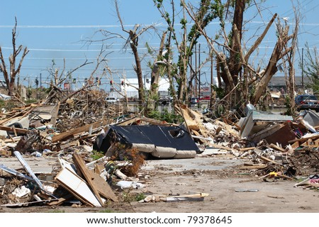 2011 will go down on record as being one of the deadliest years on record for Tornado fatalities in the United States after over 500 deaths were reported in the 1st half of the year alone. - stock photo