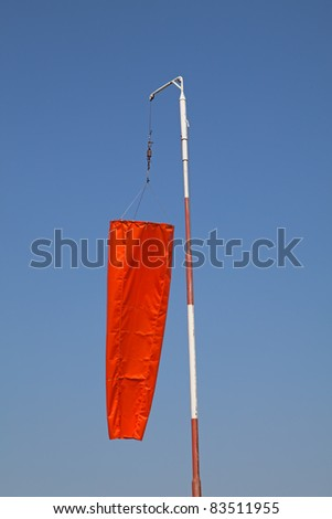 """Windsock"" showing no wind on the airfield - stock photo"