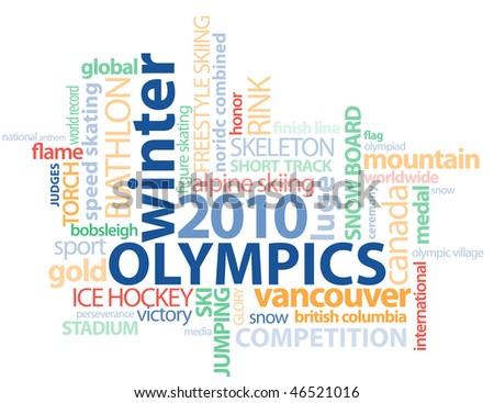 2010 Winter Olympics Graphic - stock photo