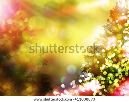 winter woods. Winter landscape. Snow covered trees. christmas background - stock photo