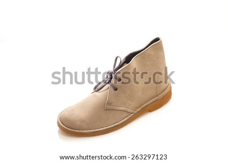 Woman suede leather shoes  - stock photo