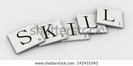 :Word 3d sign - stock photo