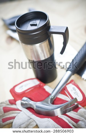 Worker's mug - stock photo