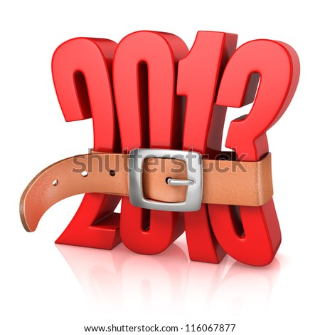 2013 year of recession - stock photo