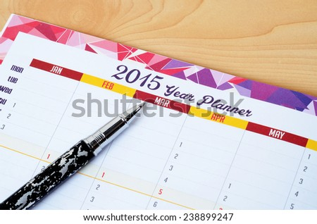 2015 year planner - stock photo