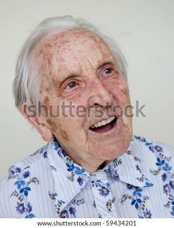 95 years old german woman - stock photo
