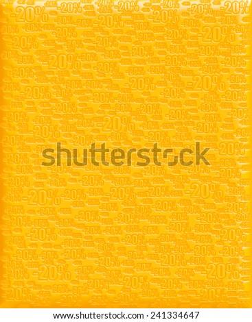 20% yellow background - stock photo