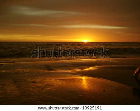 Yellow Sunrise - stock photo